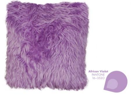 Fur Pillow + Pantone African Violet