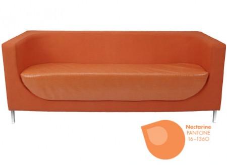 Elan Sofa + Pantone Nectarine