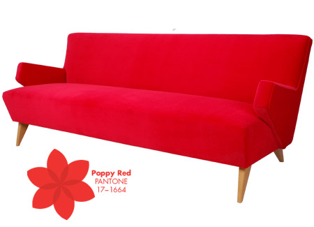 Beverly Sofa + Pantone Poppy Red