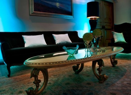 For this private Victoria's Secret Event, FormDecor's Rococo Table and Sofa provided a dark, sultry setting perfect for any night-time Gatsby-themed gathering.