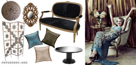 We're inspired by The Great Gatsby and Carrey Mulligan's Vogue cover story. Featured FormDecor furnishings