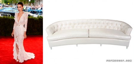 Rooney Mara was definitely the best dressed of the night in a stunning Givenchy dress. A gorgeous sofa, such as our Catalina Sofa in Ostrich, is the only option for this fierce, The Girl With a Dragon Tattoo-leading lady!
