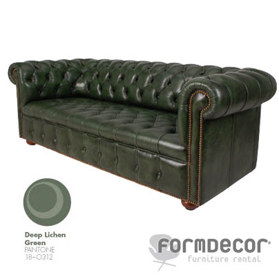 chesterfield green sofa