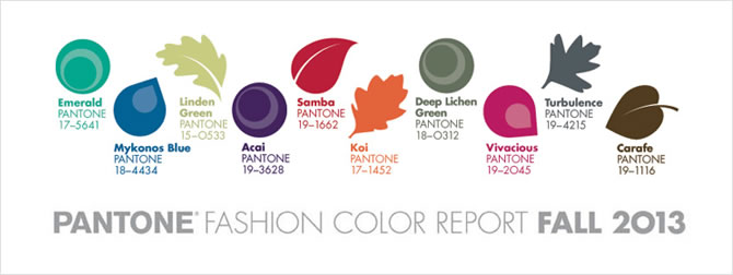 Pantone Fall 2013 Color Report