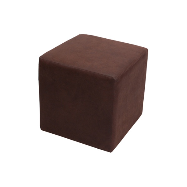 Leather Cube Brown Formdecor