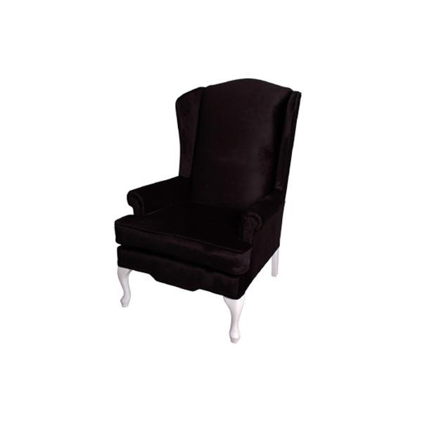 Wingback Chair Black FormDecor