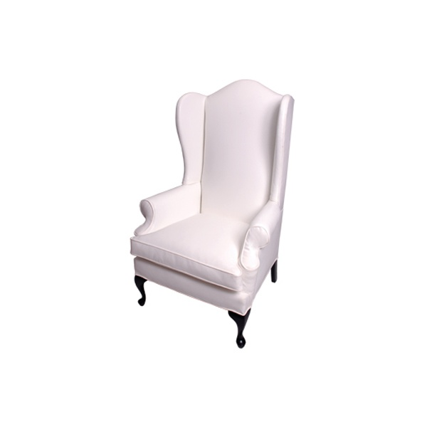 Wingback Chair Tall (White)