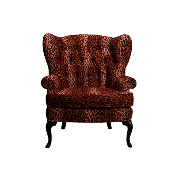Leopard Lounge Chair Event Furniture Rental Delivery