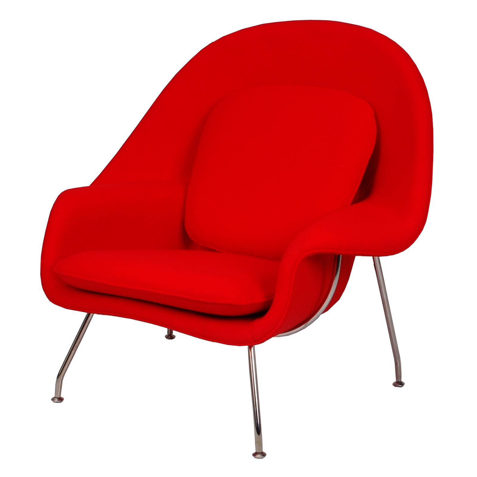 Eero Saarinen Womb Chair (Red) - FormDecor