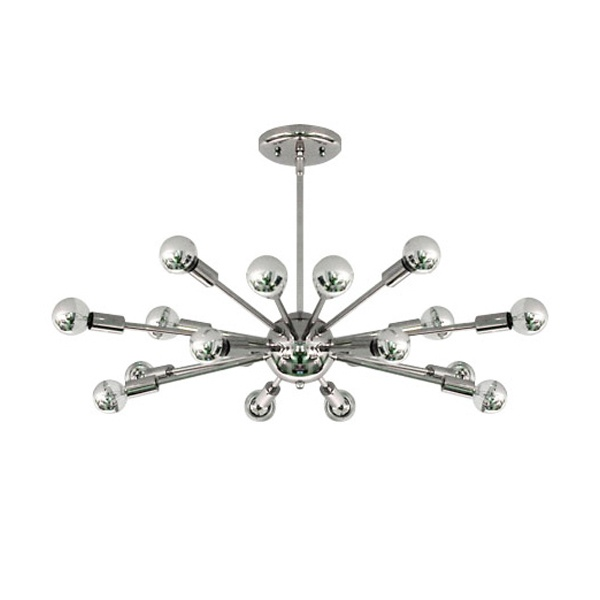 Add some retro touches to your lighting with Sputnik Light Fixture in Chrome from FormDecor