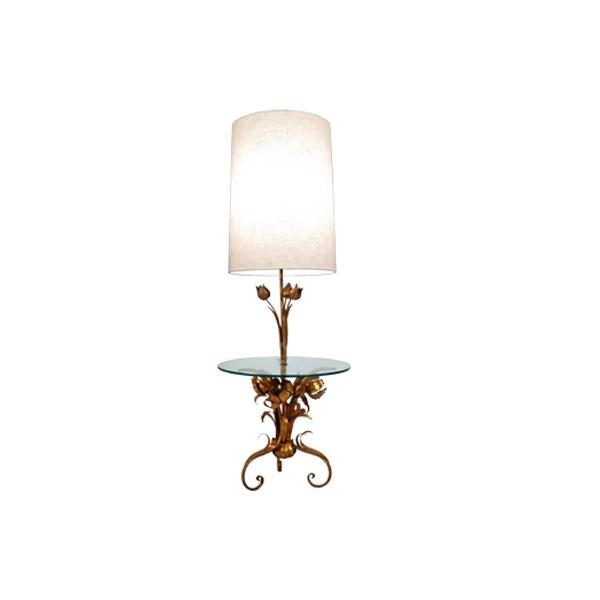 Italian Tole Floor Lamp Side Table Formdecor