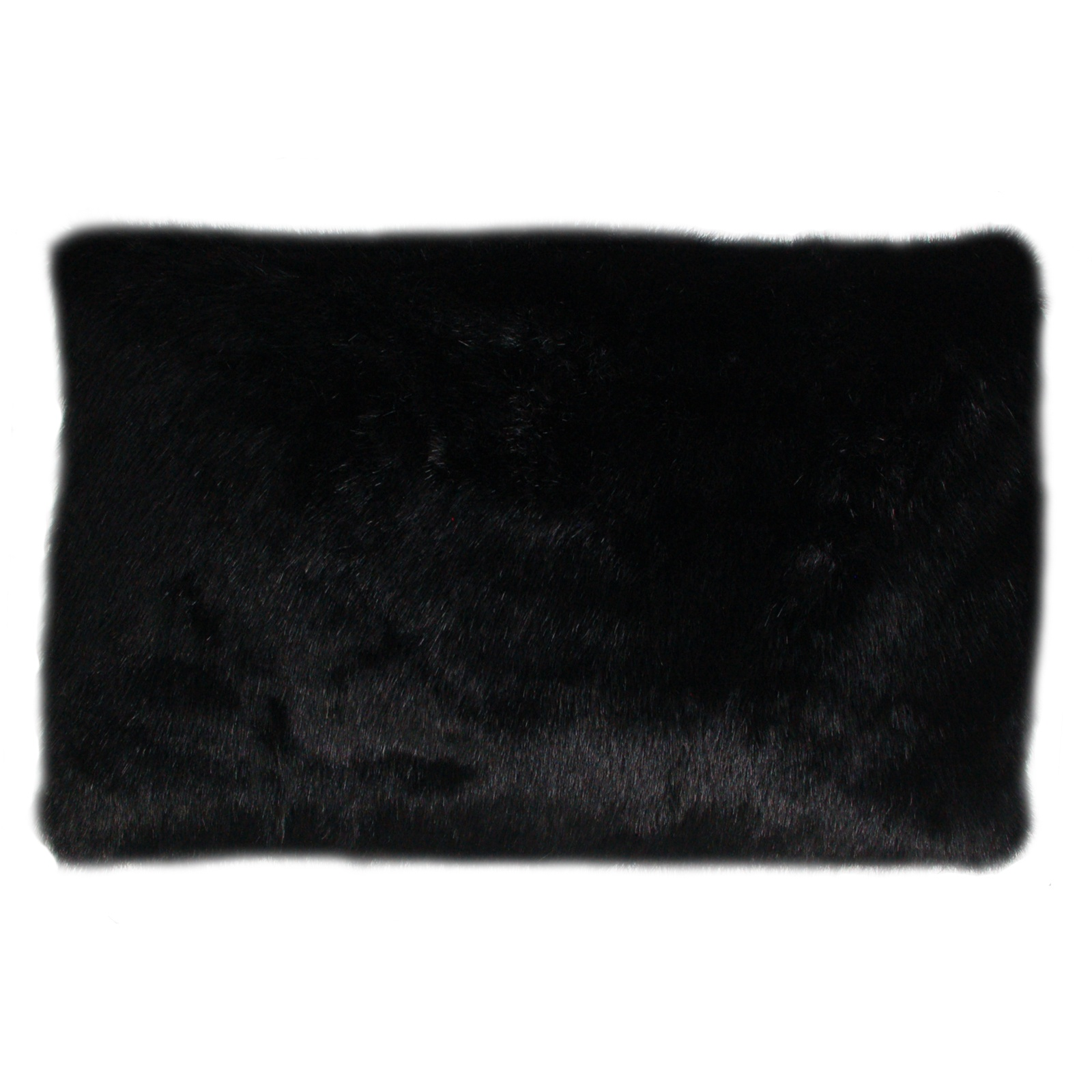 Fur Lumbar Pillow (Black) - FormDecor