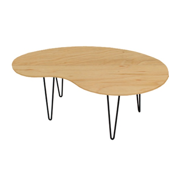 Kidney Shaped Coffee Table For
