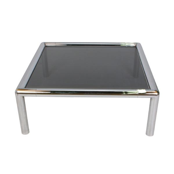 Tubular Chrome Coffee Table: For Rent! John Mascheroni Coffee Tables!