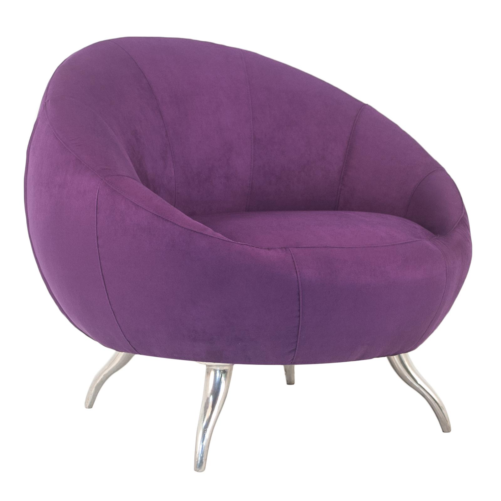 Genoa Lounge Chair (Purple)