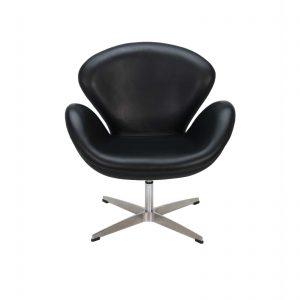 C10030-06-Arne Jacobsen-Swan-Chair-Black-front