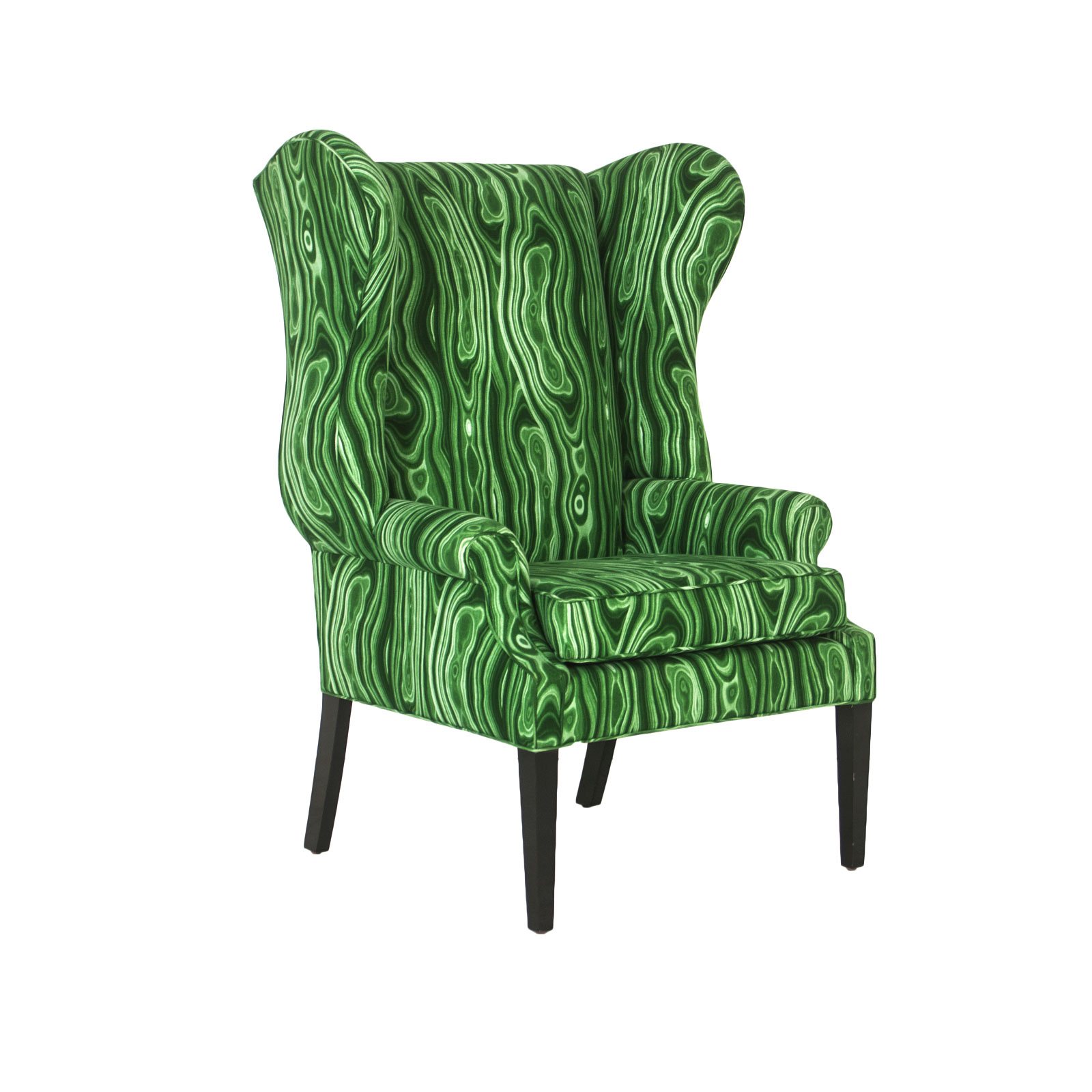 Tony Duquette Style Wingback Chair