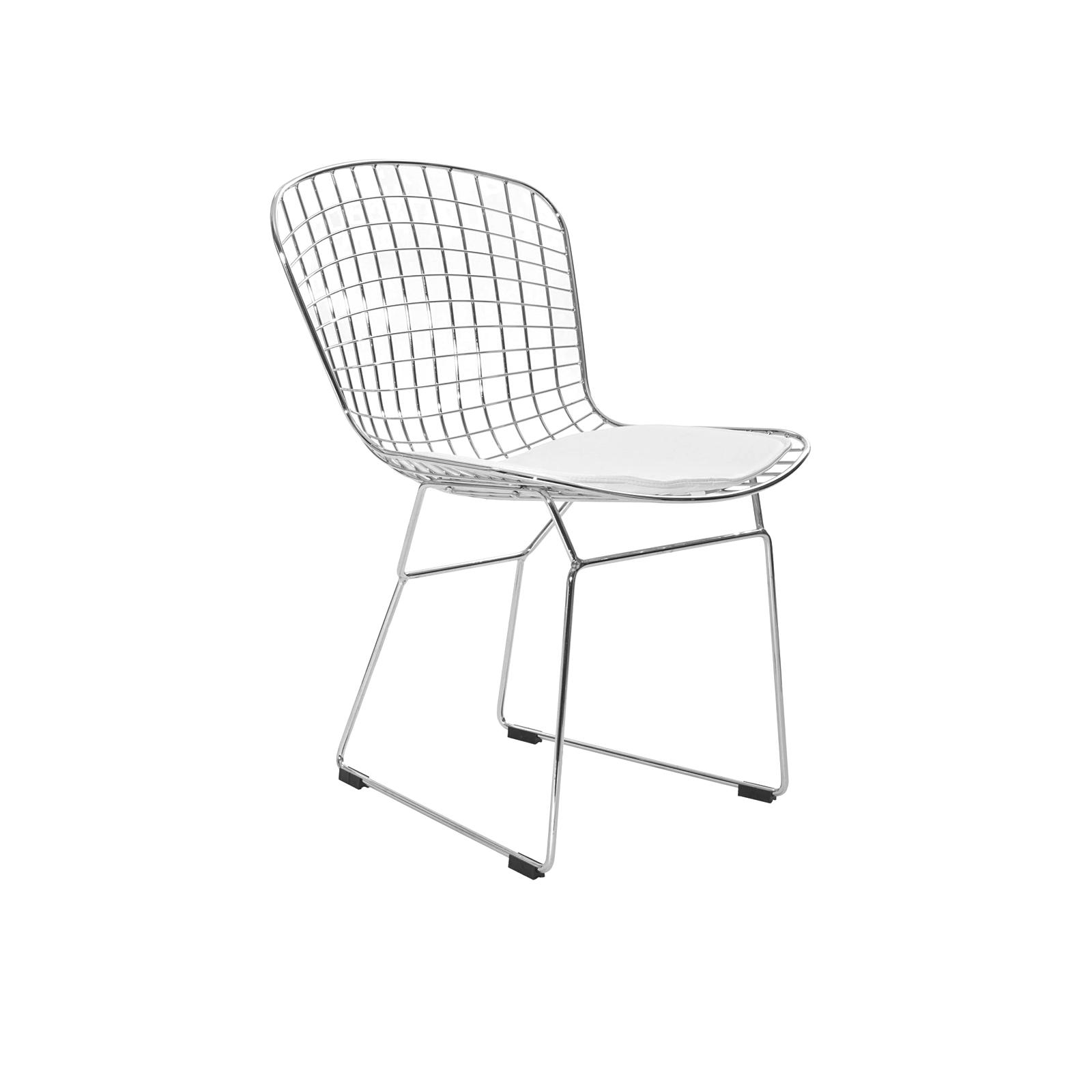Bertoia Side Chair (chrome/white)