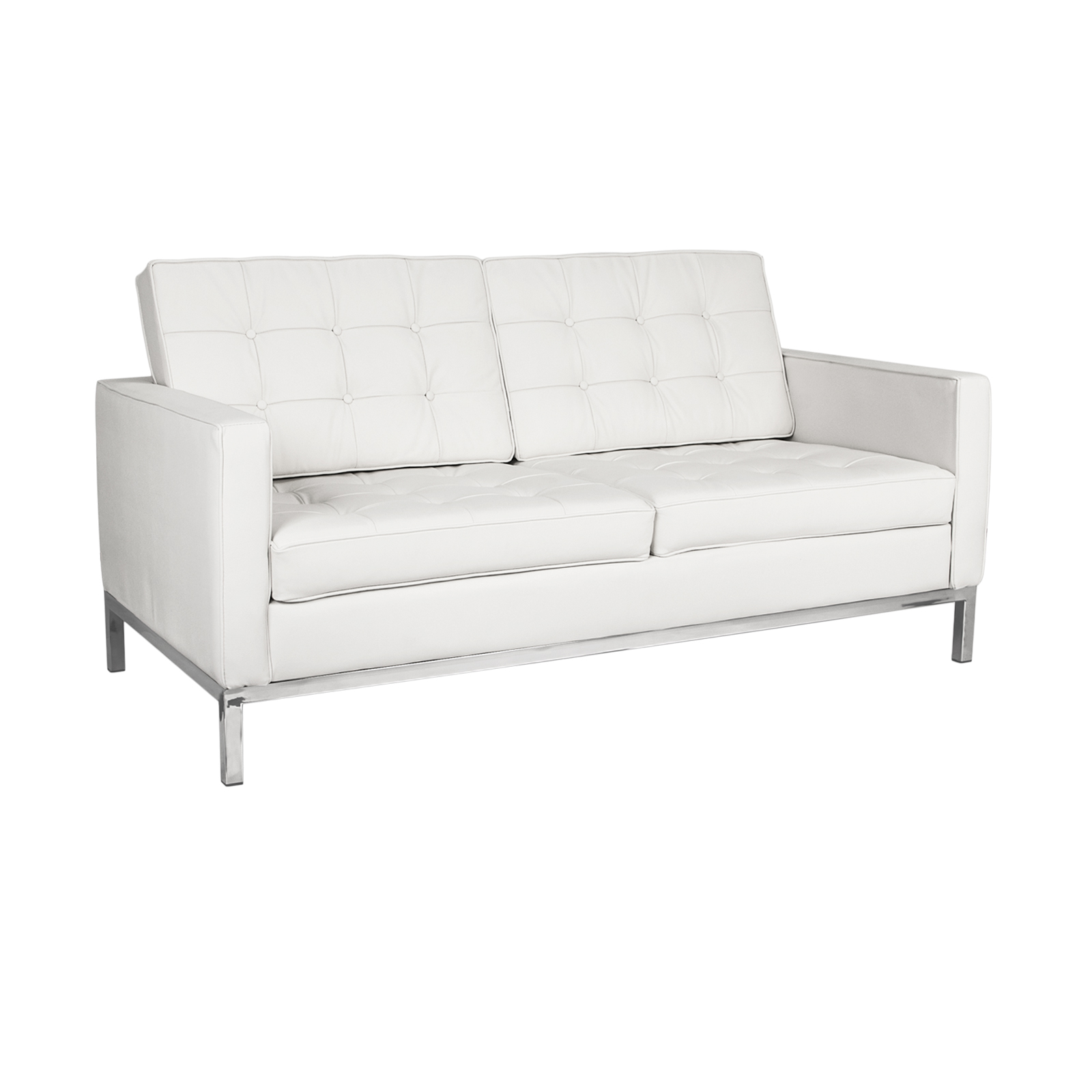 Florence Knoll Loveseat  White Florence Knoll Sofa Rentals   Event Furniture Rental. Florence Knoll Sofa Dimensions. Home Design Ideas