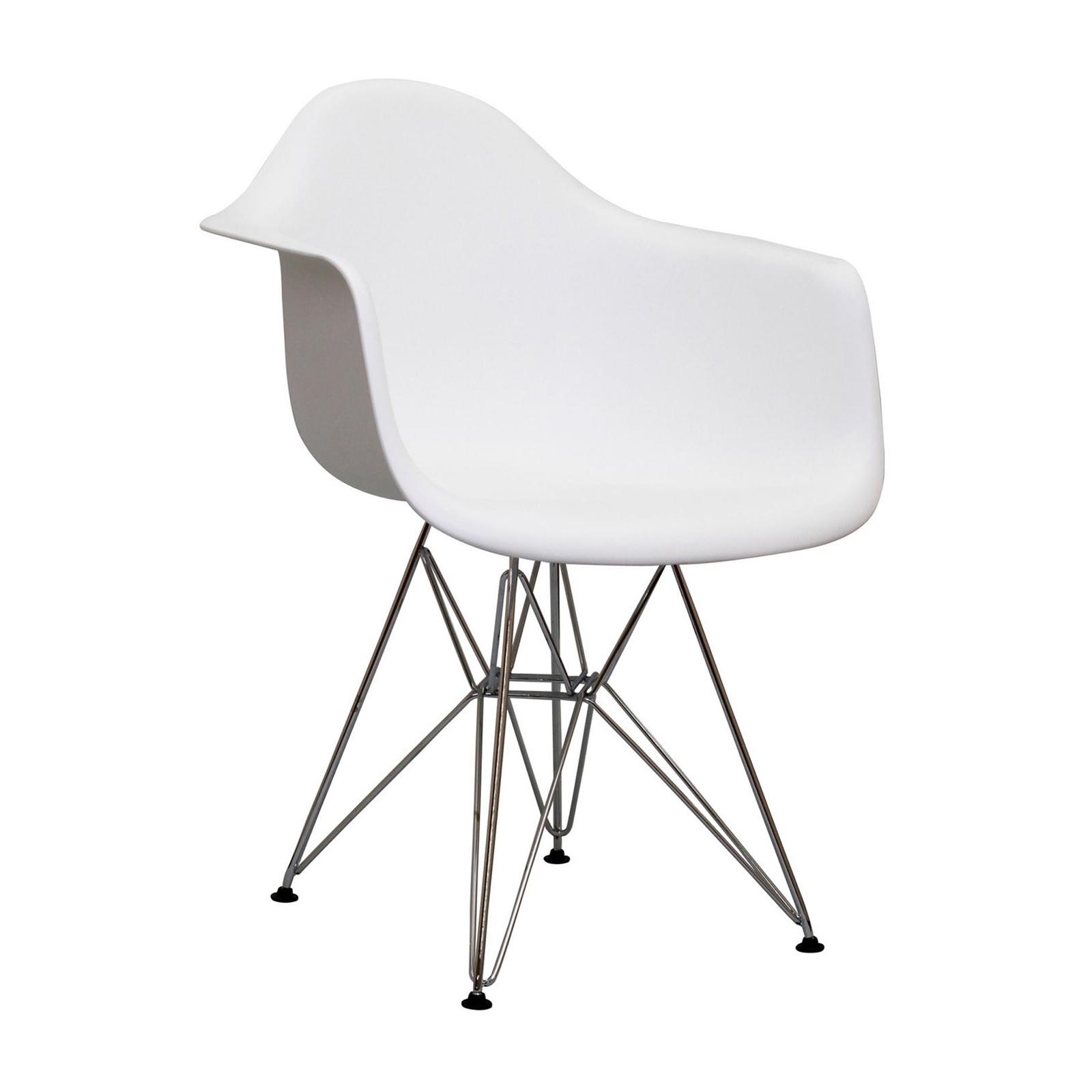 Eames Armshell Chair Eiffel Base (White)