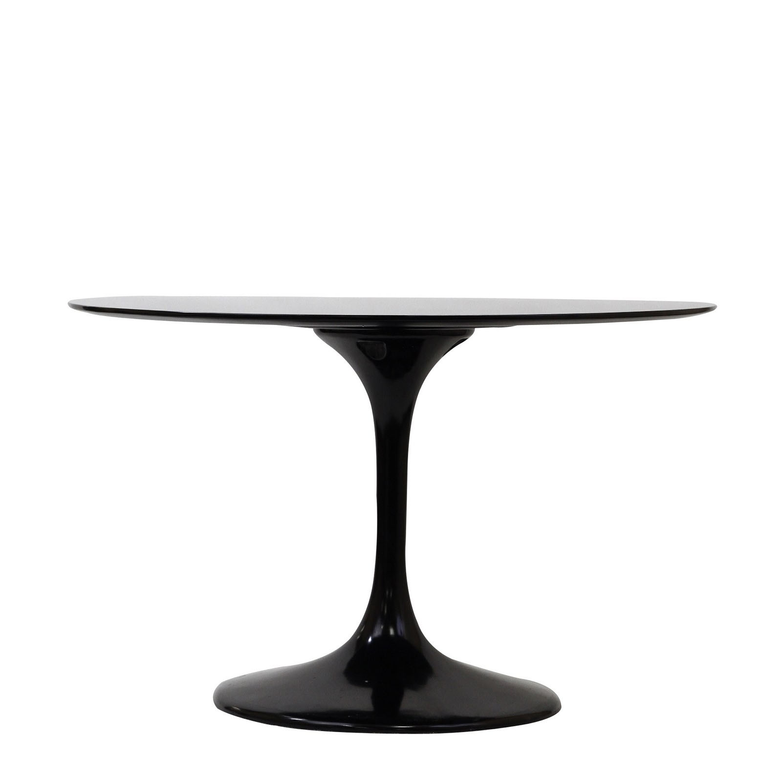 Saarinen Style Tulip Dining Table (Black)