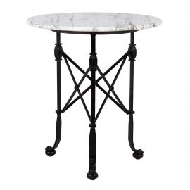 T30461-00-Corvus-Side-Table-rental-Tall-Marble-Top-feature