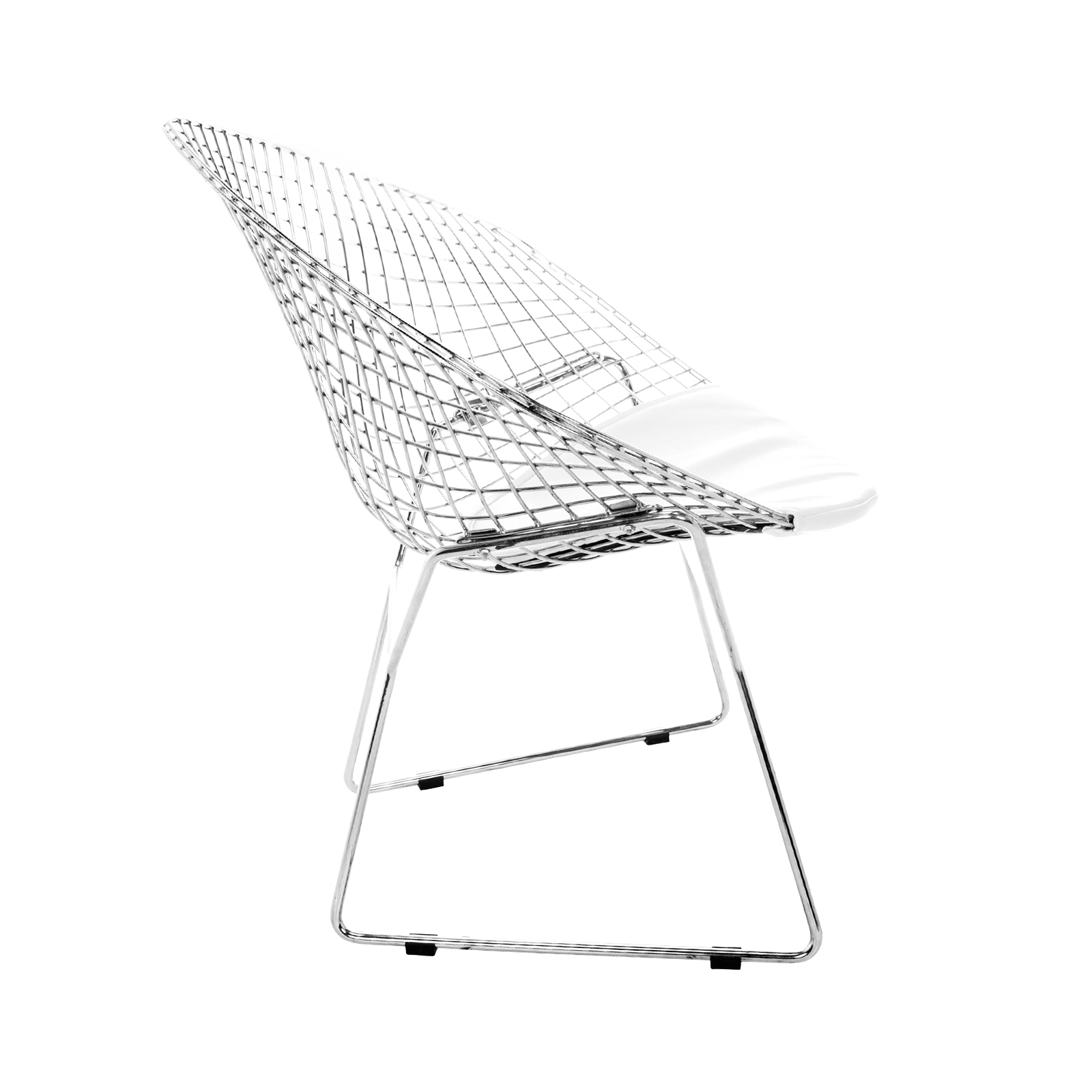 Harry Bertoia Diamond Chair Chrome (White)