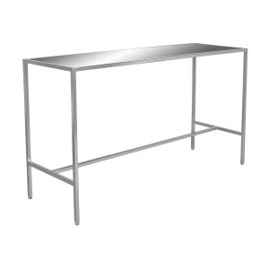 T30488-MIR Bravo 2 Communal Bar Table (Silver:Mirror) feature