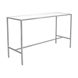 T30488-WHT Bravo 2 Communal Bar Table rental (Silver:White) feature