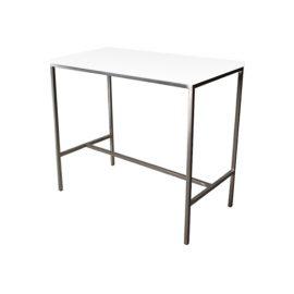 T30244-WHT Bravo Bar Table rental (White)