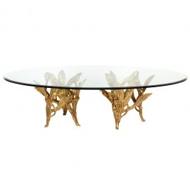 T30491-00 Dorado-Dining-Table rental (Oval) front
