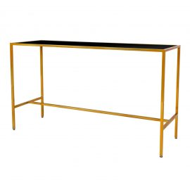Gold Communal Bar Table Rental Event Trade Show