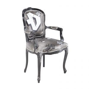 C10547-00 Graffiti Side Chair Rental D FrontAngle
