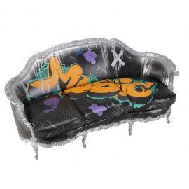 S20197-00 Graffiti Sofa rentals Music feature