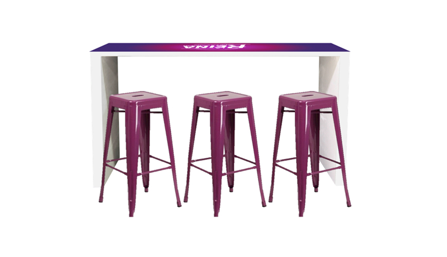 Custom Graphics for Your Event-FormDecor-Furniture-Rental-La-Reina-Bar-Table