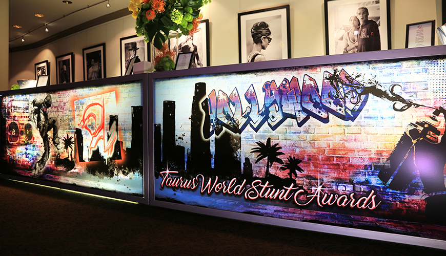 Custom Graphics for Your Event-FormDecor-Furniture-Rental-Taurus-World-Stunt-Awards-Bar