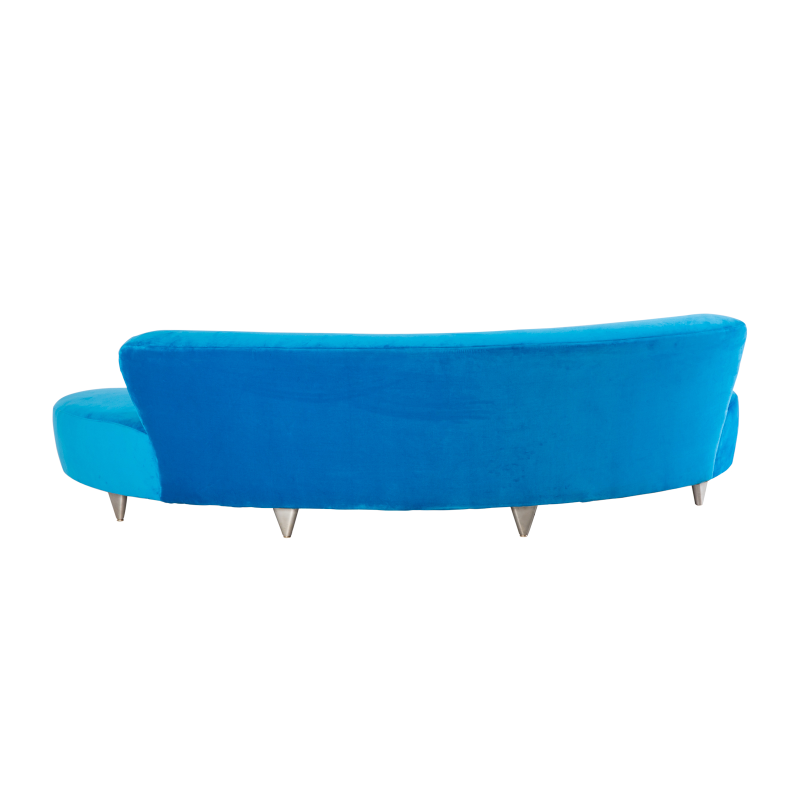 Large Cloud Sofa Velvet Blue Formdecor