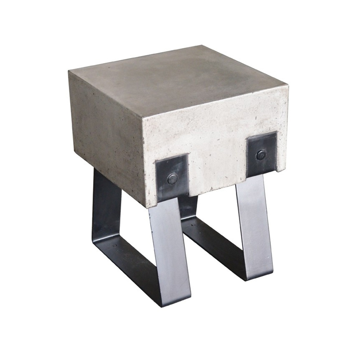 Concrete Stool W Legs Event Trade Show Furniture Rental
