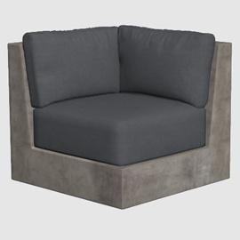 Concrete Lounge Armchair 3d model