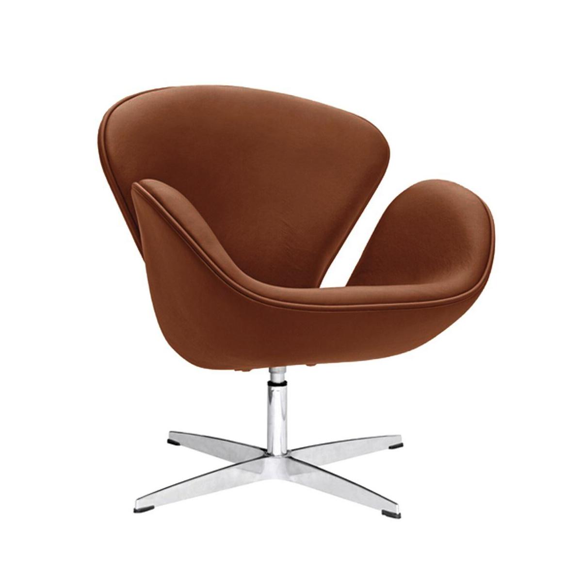 arne jacobsen swan chair  light brown