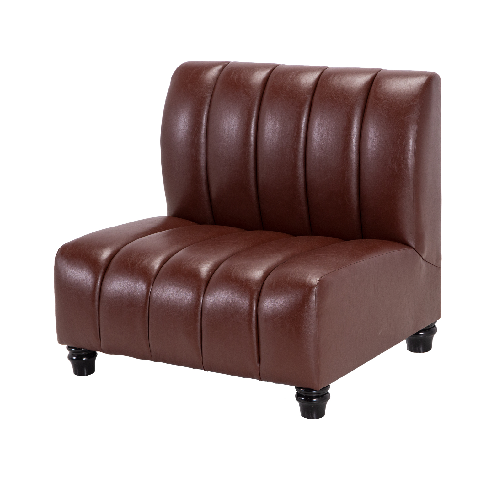 Salon Armless Chair Oxblood Event Trade Show Furniture