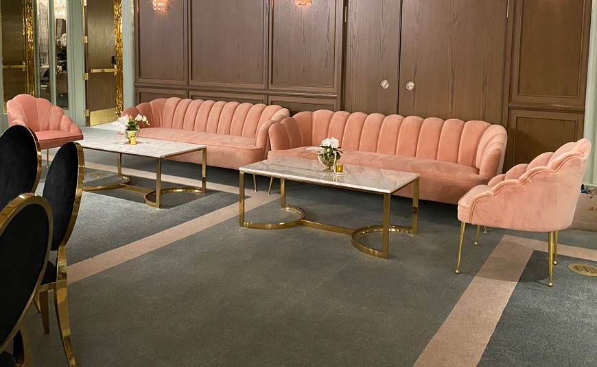 Park MGM Las Vegas sofa rental chair table 1