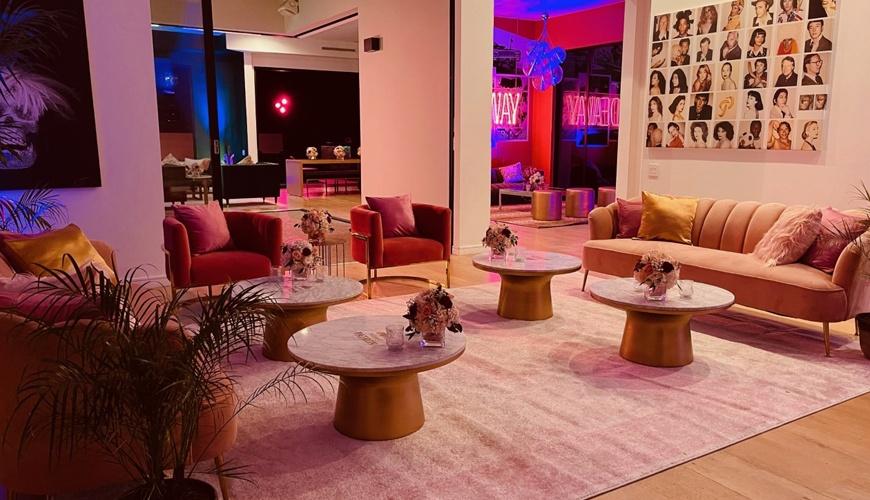 Doja-Cat-Grammy-Party-2021-furniture-rental-1